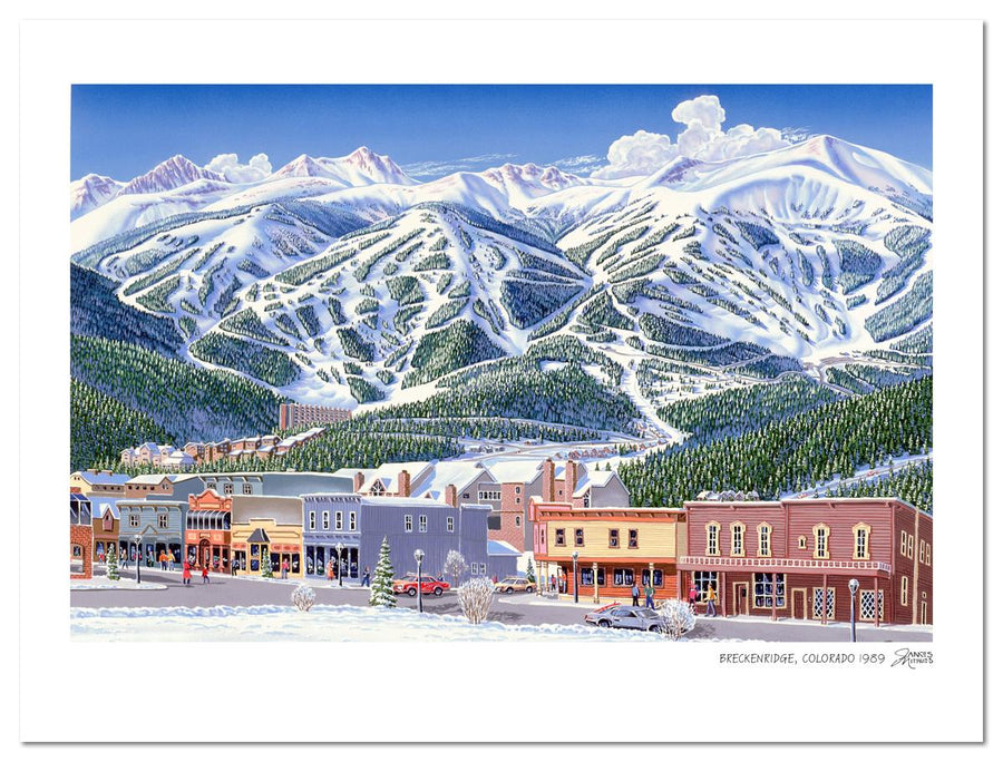 Breckenridge Mountain & Street Scene