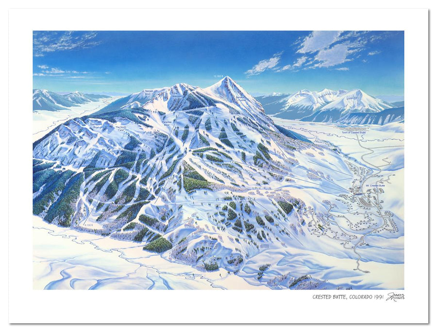 Crested Butte Colorado | Crested Butte Ski Map | by James Niehues