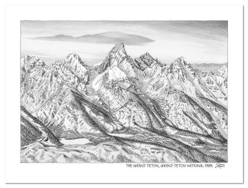 Grand Teton National Park Sketch