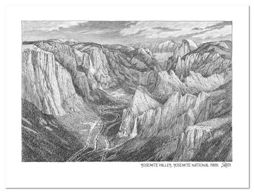 Yosemite National Park Sketch