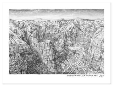 Zion National Park Sketch