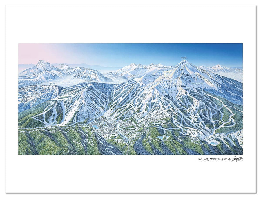 Big Sky Ski Map | Big Sky, Montana | by James Niehues