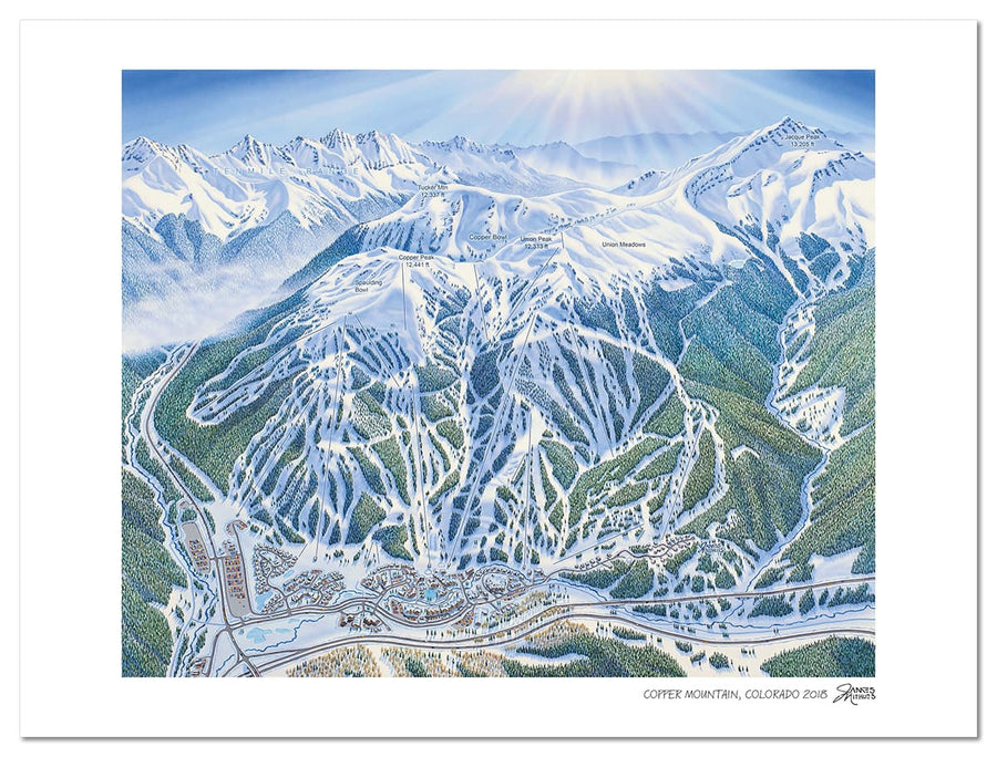 Copper Mountain Map | Copper Mountain Ski Map | by James Niehues