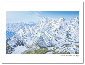 Squaw Valley Trail Map | Squaw Valley Ski Map | by James Niehues