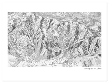 Park City Ski Map Sketch