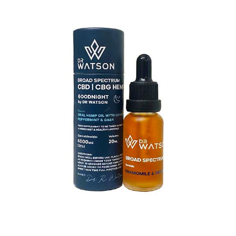 Dr Watson 3000mg CBD + CBG Broad Spectrum Oil 20ml - Relief