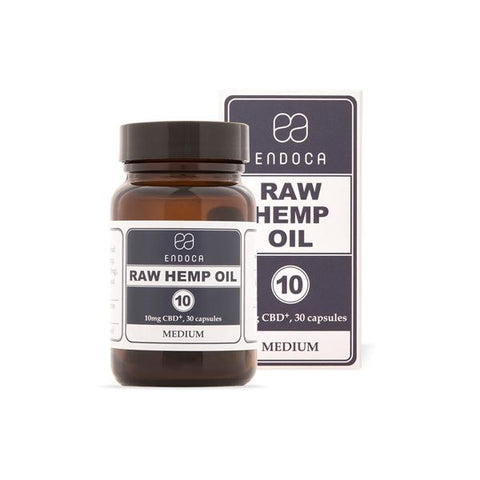 Endoca 300mg CBD+CBDa Capsules Raw Hemp Oil - 30 Caps