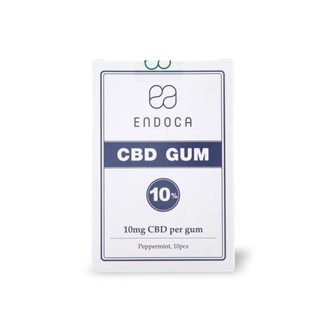 Endoca 100mg CBD Peppermint Chewing Gum - 10 Pcs