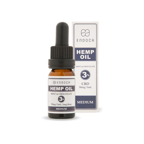 Endoca 300mg CBD Hemp Oil Drops Mint & Chocolate - 10ml