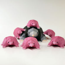 Load image into Gallery viewer, 3 Pink Baby Moles
