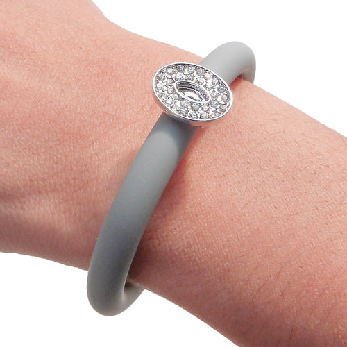 Janette Adjustable Bracelet in Chalky Grey - Silver