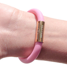 Load image into Gallery viewer, Vicky Adjustable Bracelet in Chalky Pink - Gold