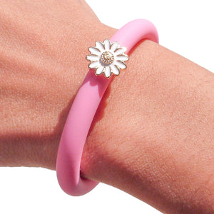 Vicky Adjustable Bracelet in Chalky Pink - Gold