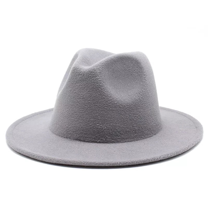 One Color Felt Fedora Hat