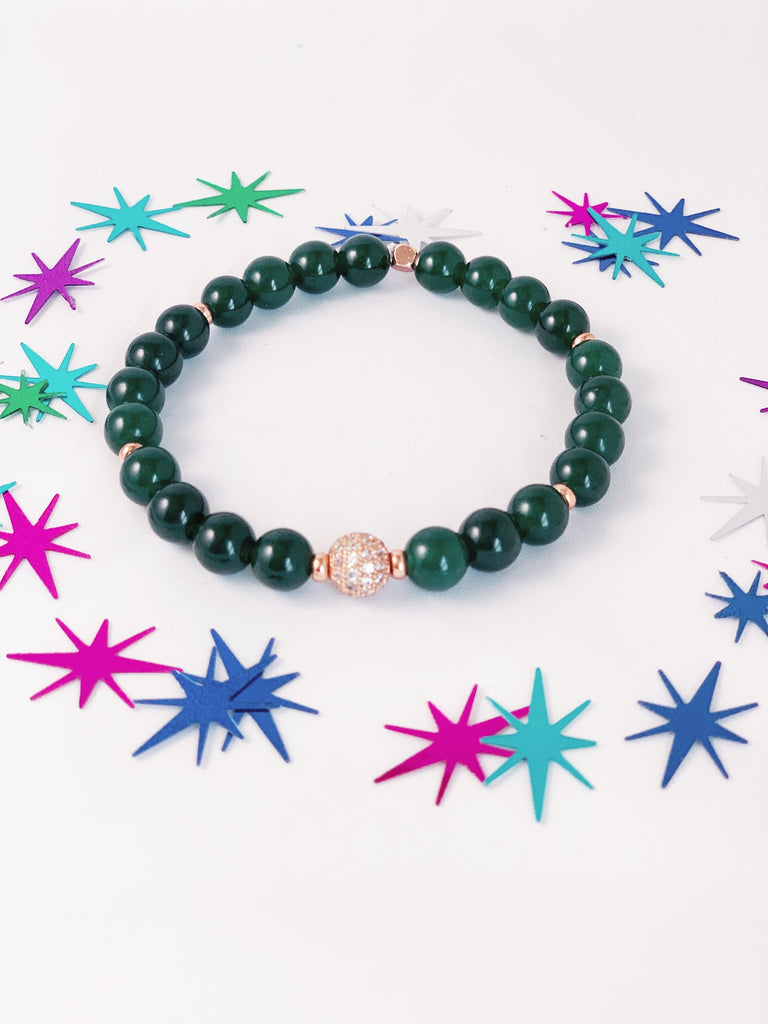 Women Affirmation 8mm Gemstone Bracelet with or without Diffuser Beads