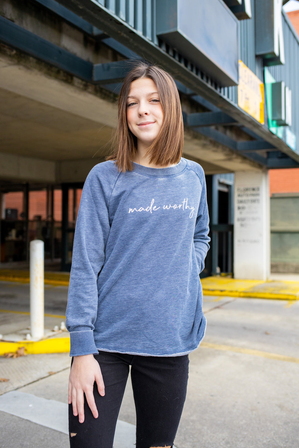 'Made worthy' sweatshirt