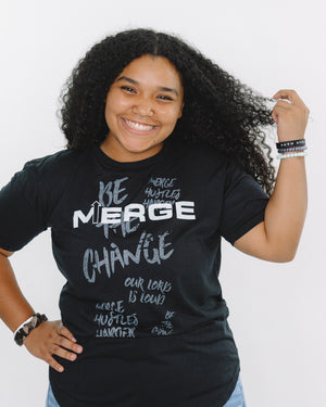'Merge' art scoop tee