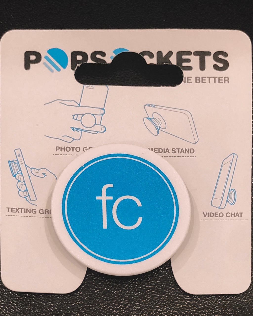 'FC' pop socket