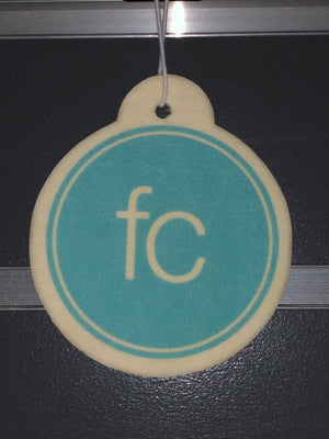 'FC' car air freshener