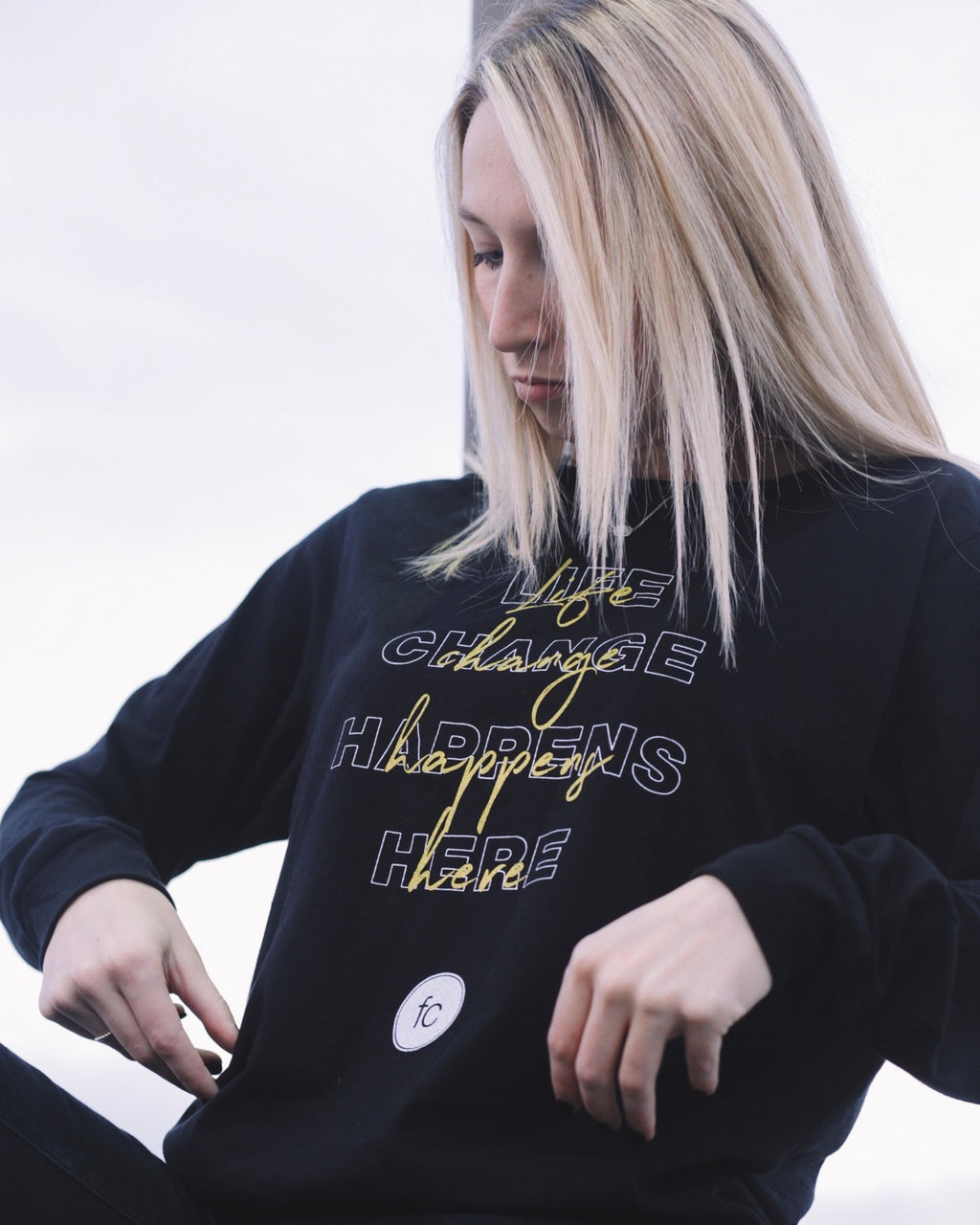 'Life Change Happens Here' long sleeve tee