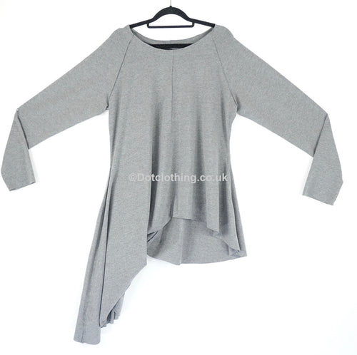 Creare Grey Jersey Dip Side Top  SALE!!