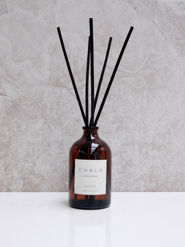 CHALK 100ml Amber Glass Diffuser  Spiced Orange