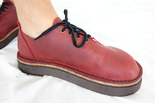 Handmade Red Leather Shoes Size 7 by 'Shŵs & Bŵts by Anna'