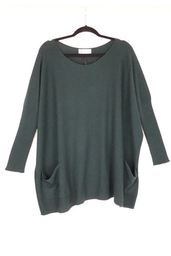 Tif Tiffy TTDK Bat Blouse in Bottle Green 2922-002214