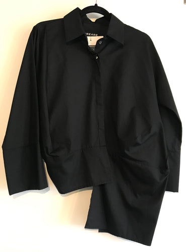 Asymmetric Black Creare Shirt