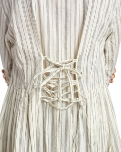 Ewa i Walla Striped Cream Dress 55617 AW19