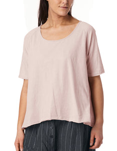 Ewa I Walla Powder Slub Knit Cotton T-Shirt 44647 SS19