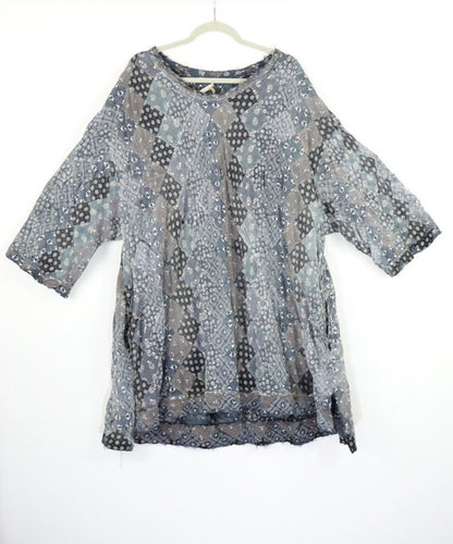Magnolia Pearl Francis Patchwork Cotton One Size Tunic