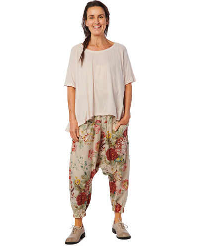Ewa i Walla Original Flower Cotton Trousers 11364 SS21