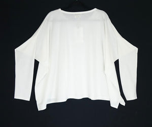 Humility White Oversized Top - HB1066 SS20