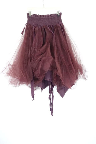 Ewa I Walla Bordeaux Net Skirt AW19 22946