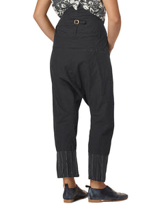 Ewa i Walla Vintage Black Crisp Cotton Trousers 11317 SS19