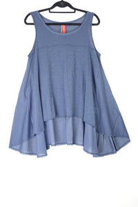 Ewa i Walla Sleeveless Swing Top Blue 33254