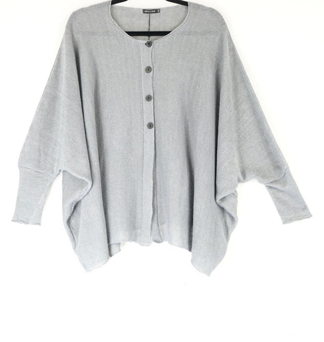 Grizas Linen Knit Cardigan Grey 65122-BL506