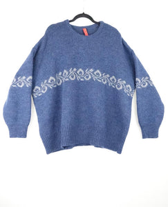 Ewa I Walla Blue Knitted Blouse AW19 44729