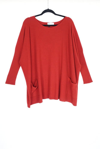 Tif Tiffy Warm Red Bat Blouse 2922-002214