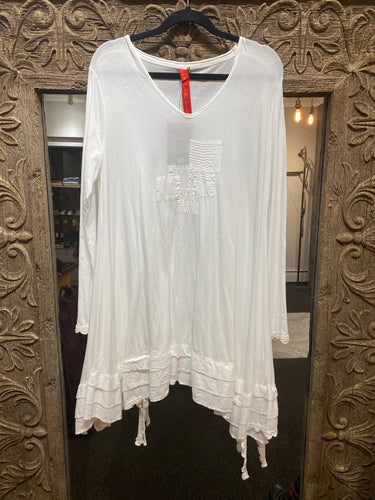 Ewa i Walla White Cotton Tunic 44650