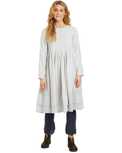 Ewa i Walla Silver Blue Flannel Dress 55674 AW20