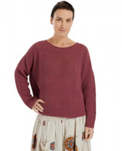 Ewa i Walla Raspberry Cotton Knit Jumper 44727 SS20