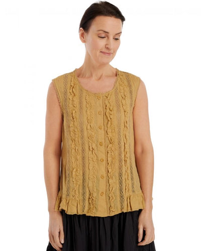 Ewa I Walla Wheat Voile Top 33289 SS20