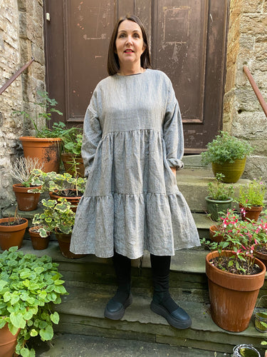 Bliss BY VIOLETTA Linen Stripe Dress NORA 60200 AW20