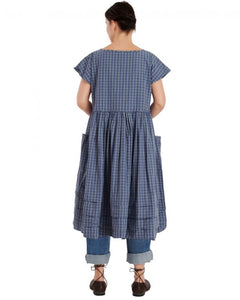 Ewa i Walla Blue Check Dress 55646 SS20