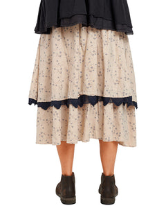 Ewa I Walla Flower Print Flannel Skirt 22971 AW20