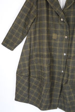 Ewa i Walla Olive Check Military Jacket 66326 AW19