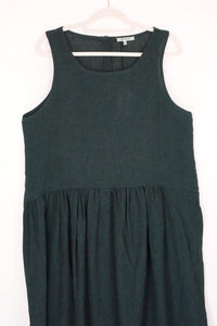 Humility Teal Sleeveless Pleated Dress