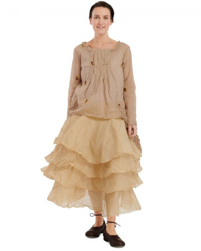Ewa i Walla Cotton Layered Tine Skirt 22947 SS20